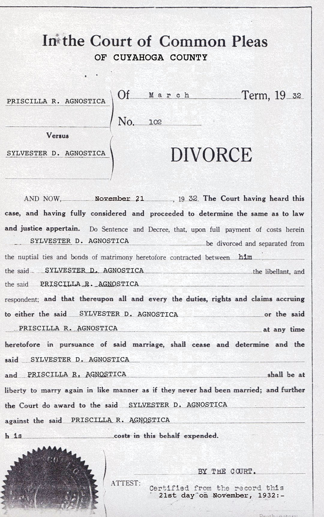 Divorce Forms